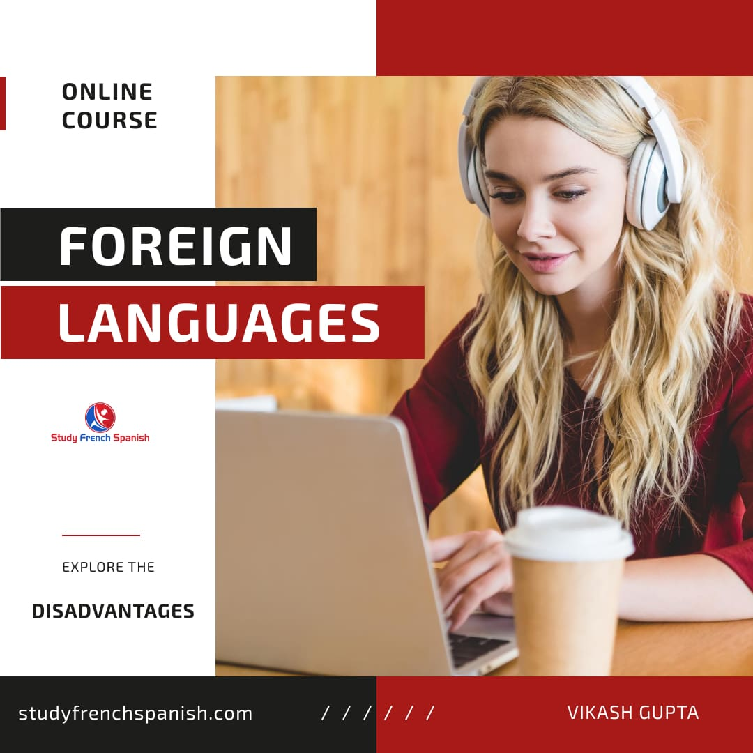 Disadvantages of learning a language online